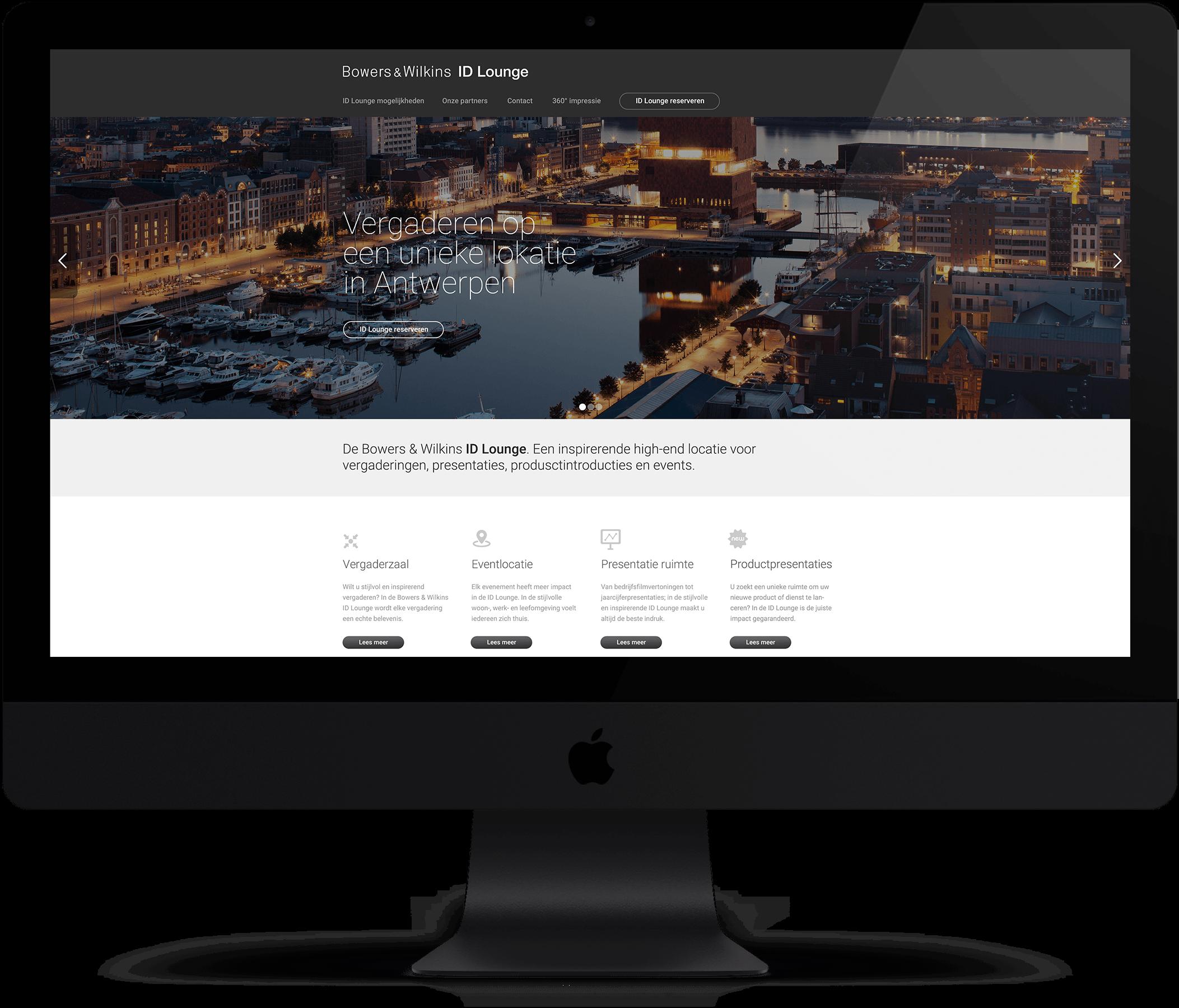 Website Bowers & Wilkins - ID Lounge