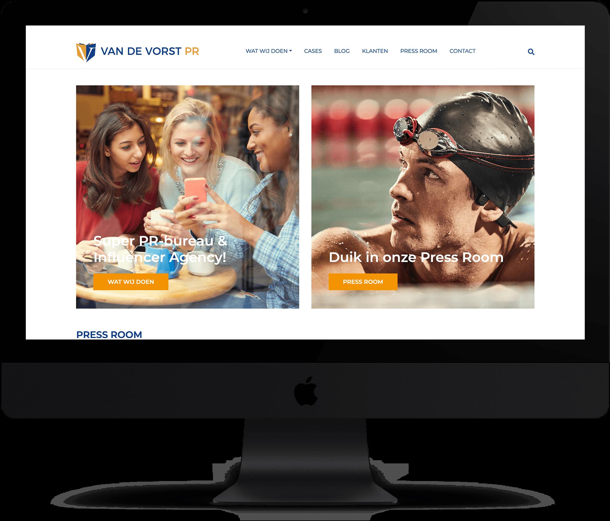 Website Van de Vorst PR