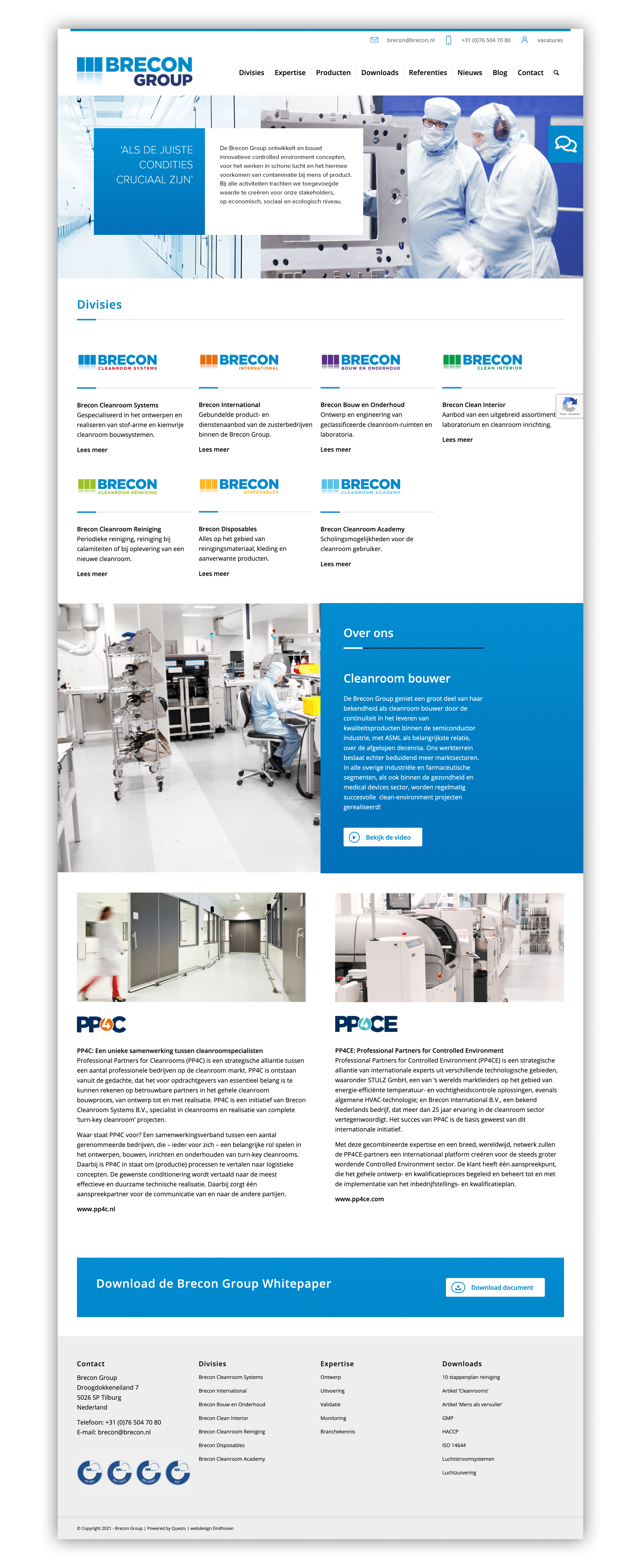 Website Brecon Group - Homepage