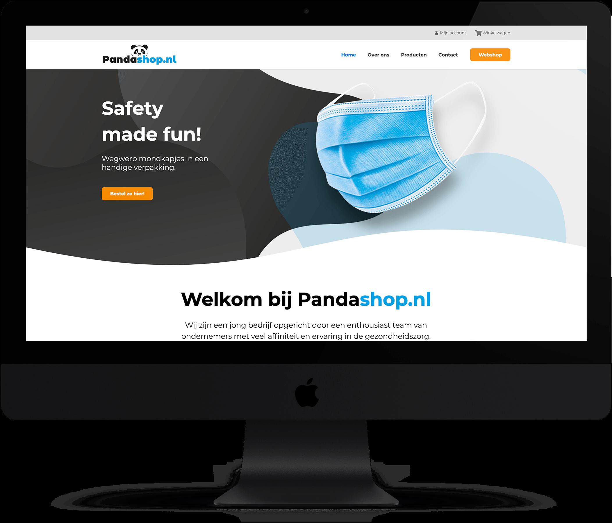Website Pandashop.nl