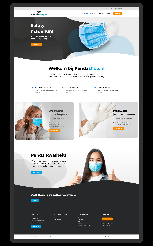 Website Pandashop.nl - Homepage